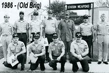 Photo: Weapons Division James Russell , front row, second from the left '84-86