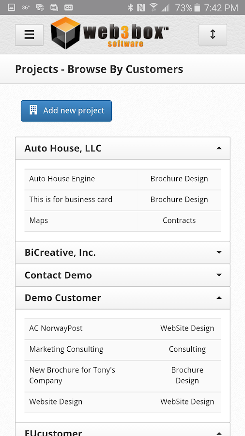 W3B Management Solutions- screenshot