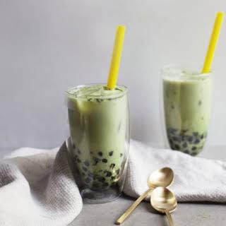 Matcha Milk Tea with Boba.