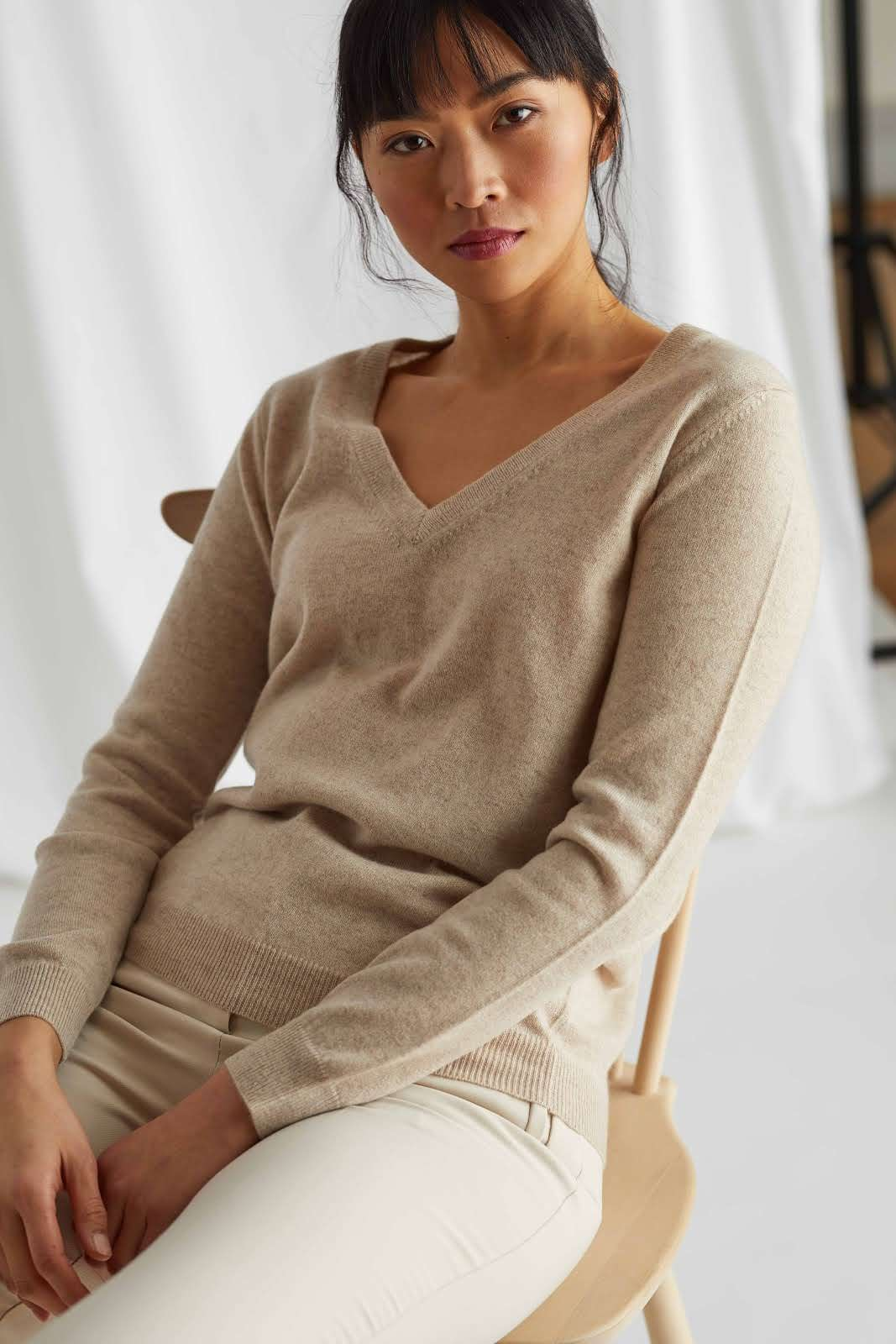 V-neck Loose Sweater