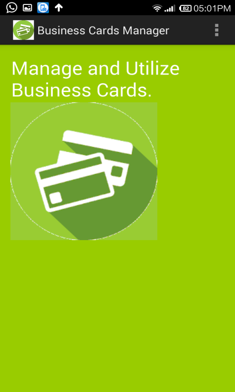 Business Cards Manager- screenshot