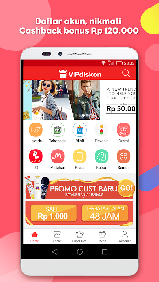 VIPdiskon- Shopping & Cashback- screenshot