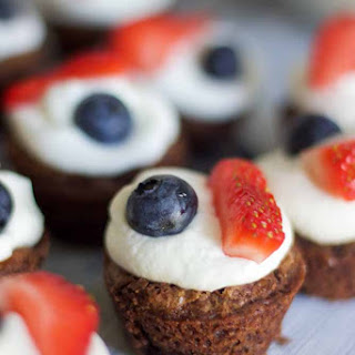 Mini Patriotic Brownies
