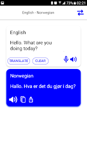 Norwegian-English Translator - náhled