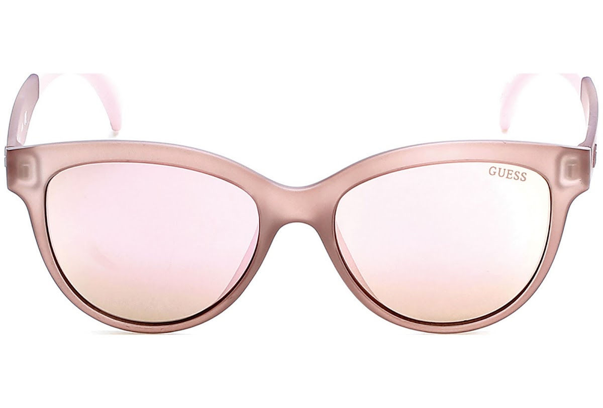 bf43e7aedd71f5 Buy Guess GU7433 C53 58C (matte beige   smoke mirror) Sunglasses ...