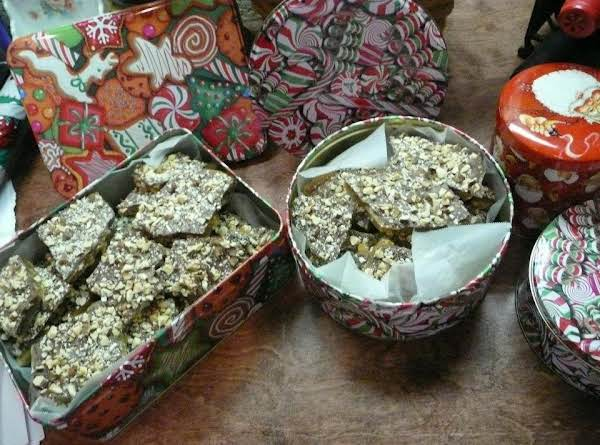 This Is The Easiest English Toffee To Make! Basic Ingredients, Too.  One Batch Will Fill Several Christmas Tins, Depending On Which Sizes You Choose.  This English Toffee Is My Favorite Next To That Sold At Disneyland!