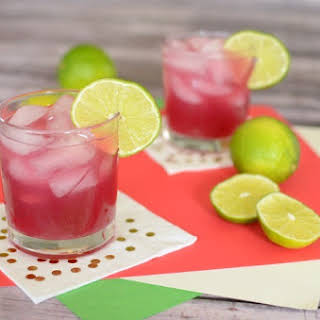 Hibiscus Lime Cooler Cocktail.