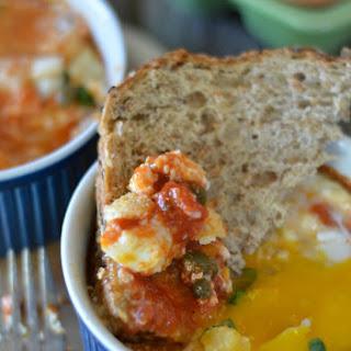 Baked Eggs with Marinara and Parmesan