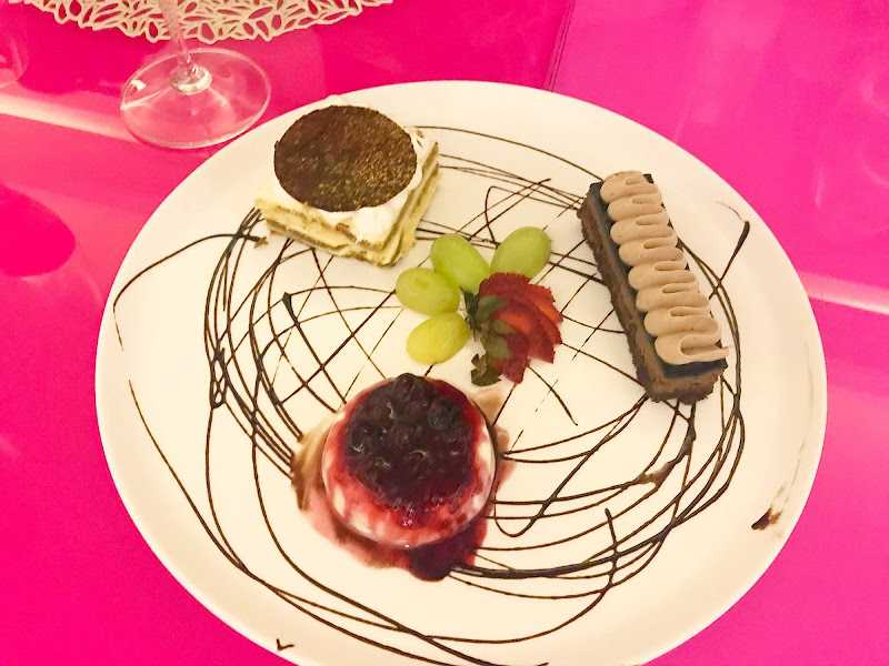 Clockwise from top: A melt-in-your-mouth tiramisu, chocolate cake and smooth panacotta served at Romanza at Temptation Cancun Resort.