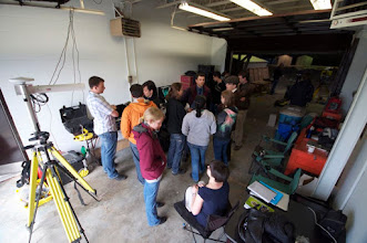 Photo: Learning about the rover control station