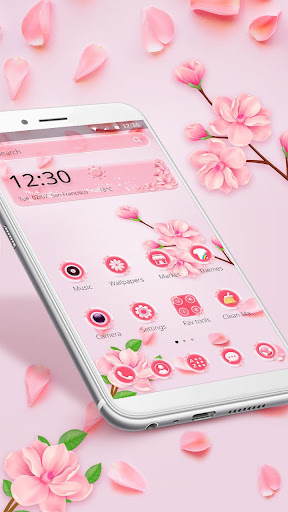 Beautiful Pink Flower Theme 1.1.6 screenshots 1
