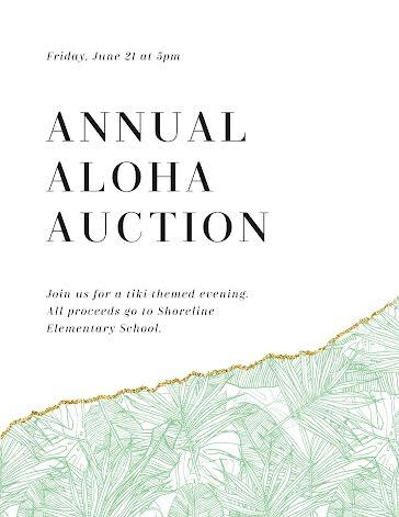 Annual Aloha Auction - Flyer Template