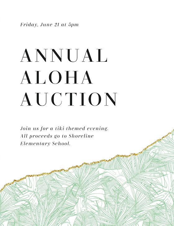 Annual Aloha Auction - Flyer Template