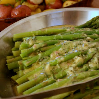 Asparagus with Tarragon Vinaigrette.