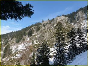 Photo: Les falaises d'escalade