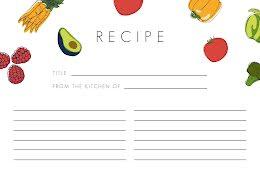Veggie Border Front - Recipe Card item