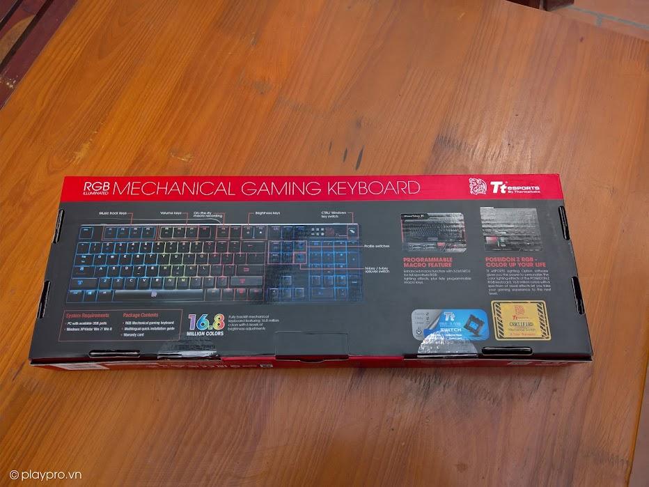 Bóc hộp và đánh giá chiếc phím cơ Tt Esports Poseidon Z RGB: Một chiếc phím đáng giá, thiết kế tốt, hiệu năng cao, khả năng tùy biến mạnh mẽ