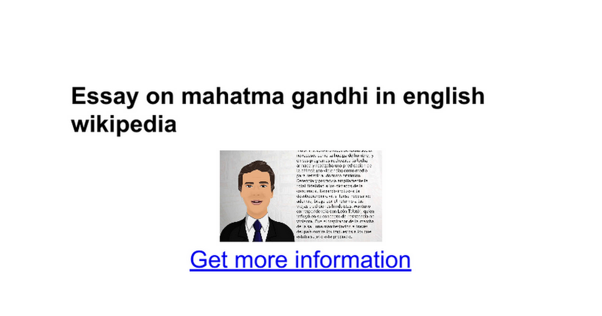 Essay On Mahatma Gandhi In English Wikipedia  Google Docs