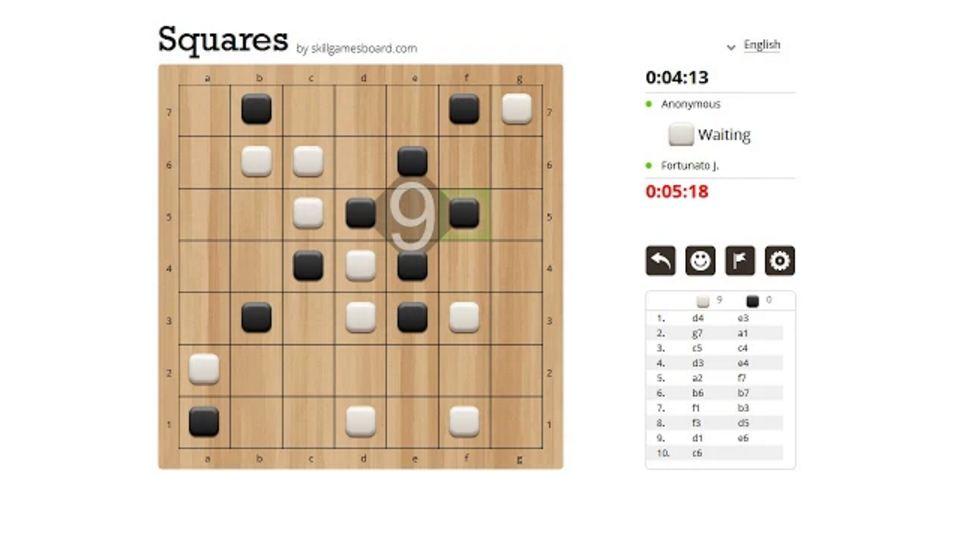 Squares: Un nuovo Gioco da Tavolo Online realizzato da SkillGamesBoard
