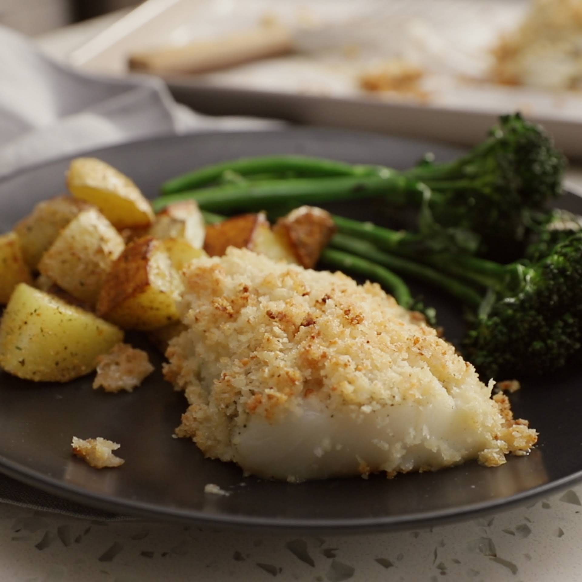 Baked Cod With Crunchy Panko Crust Recipe Yummly