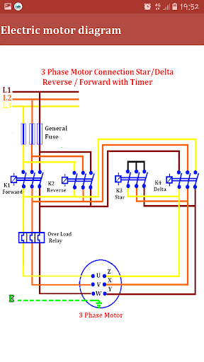 3 Phase Star Delta Motor Wiring Diagram