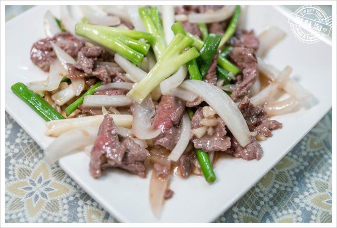 夏龍灣美食蔥爆牛肉