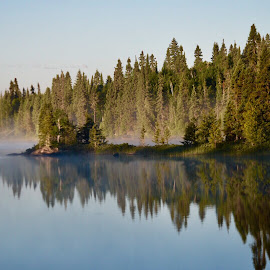 Misty Morning Reflection  by Debbie Squier-Bernst - Instagram & Mobile iPhone (  )