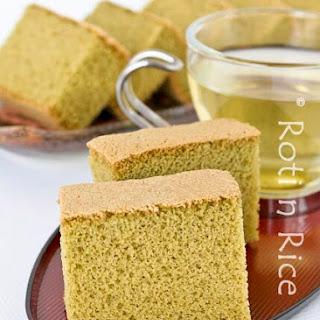 Matcha Kasutera (Green Tea Castella).
