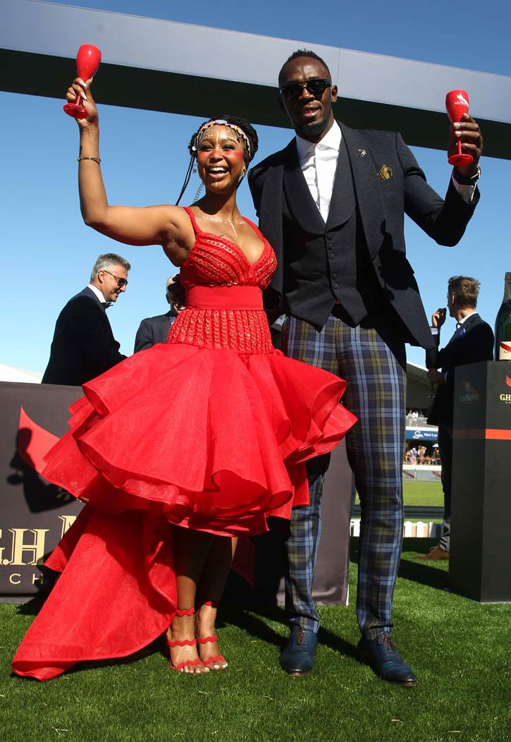 Minnie Dlamini and Usain Bolt