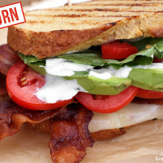 Grilled Avocado BLT with Egg and Einkorn Bread