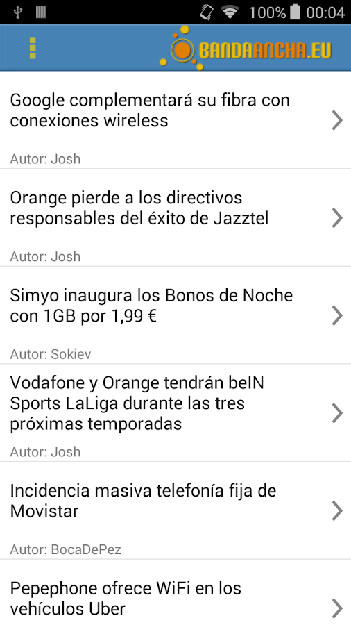 Noticias bandaancha.eu- screenshot
