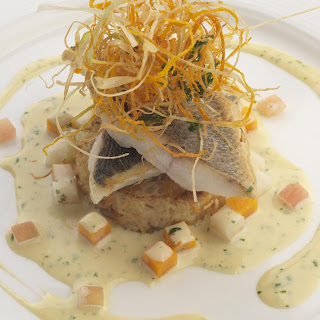 Fillet of Sea Bass with Coriander and Vanilla Sauce Recipe