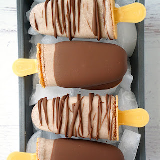 Chocolate Caramel Nutchello Popsicles