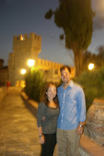 Photo: Katie and Chris before dinner in Sienna