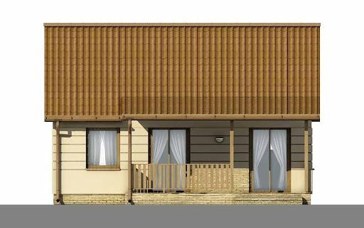 D57 - Luiza wersja drewniana - Elewacja tylna