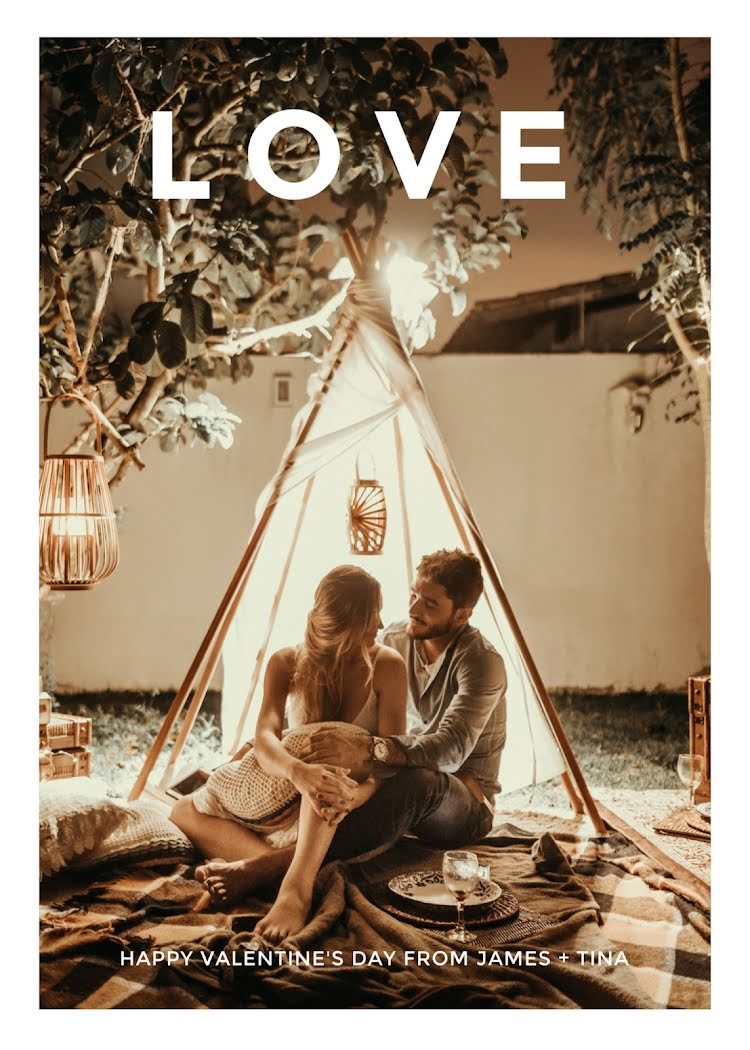 Valentine's Day Love - Valentine's Day Card Template