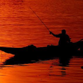 Boatman........ by Dipan Chaudhuri - City,  Street & Park  Vistas