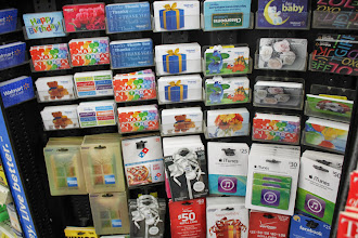 Photo: At checkout we decided to pick up Uncle Bubba a gift card to stick in his card. They had a ton of options.