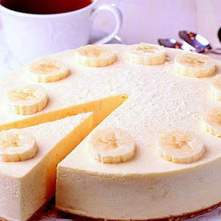 Cottage Cheese And Banana Cheesecake Without Sugar.