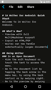 iA Writer Screenshot 4