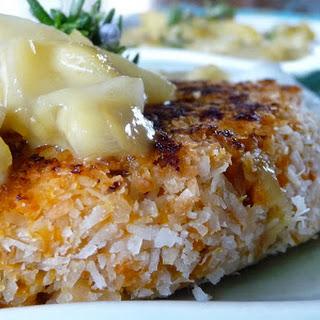 Coconut Crusted Sweet Potato Salmon Cakes