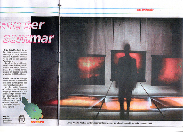 Photo: According to several critics this is maybe the best Avesta Art Biennale/Annuale since the start in 1995 ( image text ). Kerstin Eriksson for DD - Dala Demokraten Newspaper.