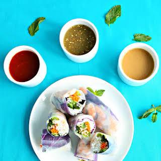 Shrimp Summer Rolls | Three Dipping Sauces.