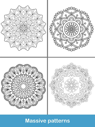 100+ Mandala coloring pages  screenshots 20