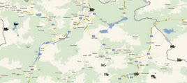 Photo: Lage der Wanderorte Wetterstein, Zugspitze, Lechtaler Alpen, Allgäuer Alpen Zu den Tourenbeschreibungen: http://pagewizz.com/wanderungen-und-ausfluege-in-den-alpen-liste-nach-regionen/