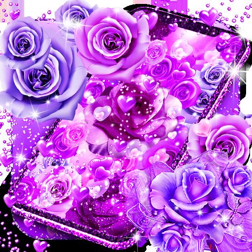 Purple Rose Love Live Wallpaper App Su Google Play