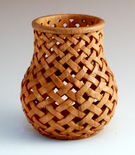 "Photo: Ed Karch - Turned & Carved Basket - 4 1/2"" x 3"" - Cherry"