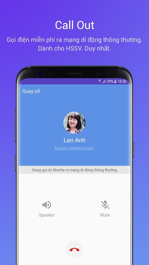 Mocha: Free SMS & Call out- screenshot
