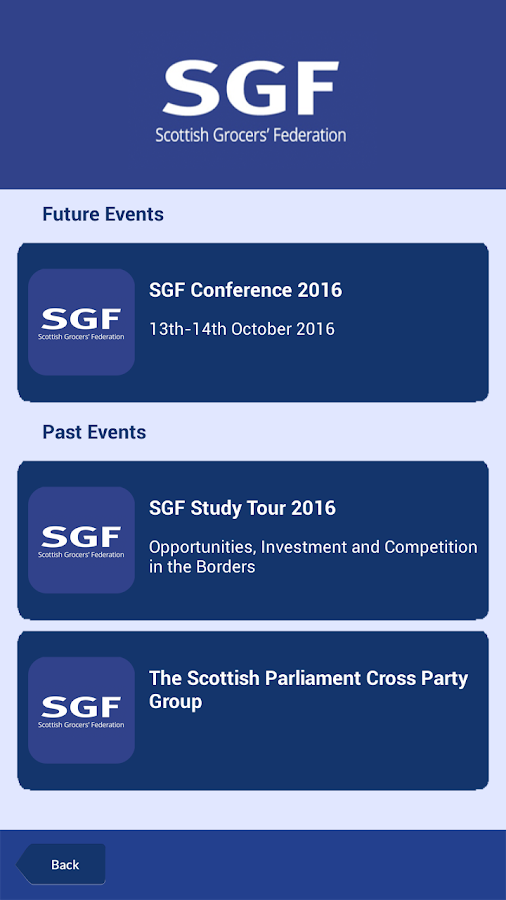 SGF Connect- screenshot