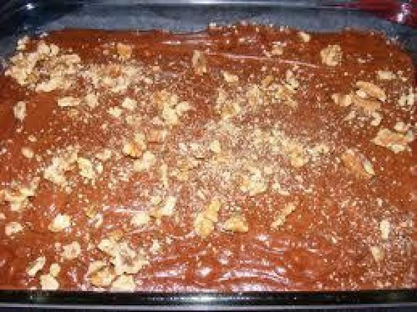 When pudding is cooked remove from heat and add the dry cake mix and...